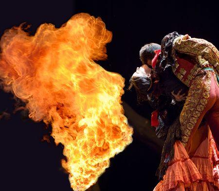 CHENGDU - DEC 28: The Best Flamenco Dance Drama  Editorial