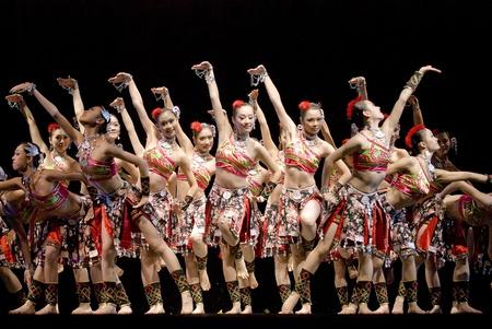 CHENGDU - DEC 12: Group dance show