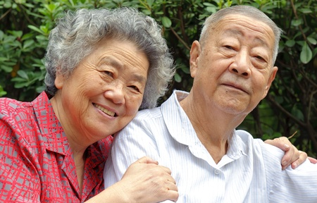 solicitude: an intimate senior couple
