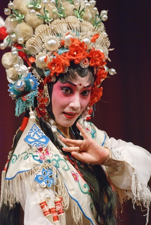 pretty chinese opera actress photo