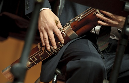 fagot: fagocista na koncert chamber music Zdjęcie Seryjne
