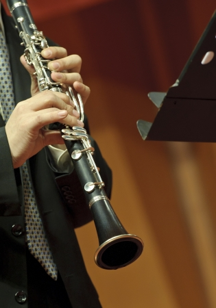 Clarinetist on concert photo