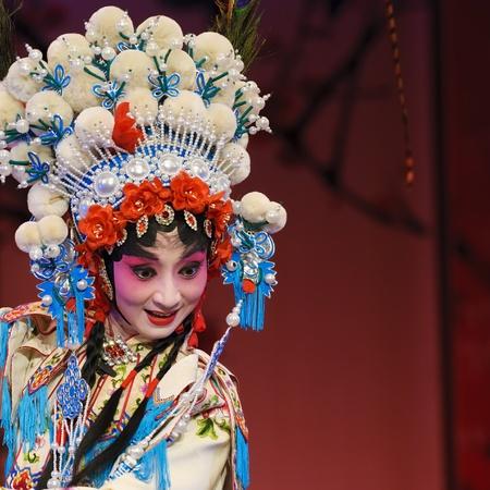 chinese opera: CHENGDU - Aug 2: Chinese opera Bai Shan Guan Jing performed by Chengdu Opera Theater at Jinjiang theater Aug 2, 2007 in Chengdu, China. The leading role is the famous opera actress Ma Li. Stock Photo