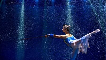 CHENGDU - DEC 9: HAIZHENG art troupe perform chinese group dance