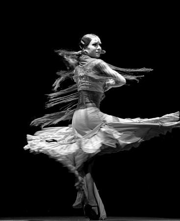 CHENGDU - DEC 28: The Ballet Troupe of Spanish Rafael Aguilar(Ballet Teatro Espanol de Rafael Aguilar) perform the best Flamenco Dance Drama Carmen at JINCHEN theater DEC 28, 2008 in Chengdu, China. Editorial