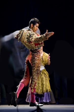 CHENGDU - DEC 28: The Best Flamenco Dance Drama Carmen performed by The Ballet Troupe of Spanish Rafael Aguilar(The Ballet Teatro Espanol de Rafael Aguilar) at JINCHENG theater DEC 28, 2008 in Chengdu, China.