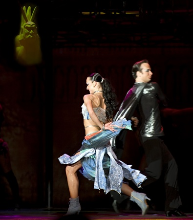 paso doble: CHENGDU - FEB 2: The World Famous Dance Drama Notre Dame de Paris performed by Dance of the World Troupe at SICHUAN coliseum FEB 2, 2010 in Chengdu, China.