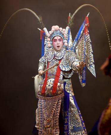 CHENGDU - OCT 26: Zhejiang Kunqu Opera theater perform Gongshunzidu at Jinsha theater.OCT 26, 2008 in Chengdu, China. The leading role is the famous opera actor Lin Weilin.