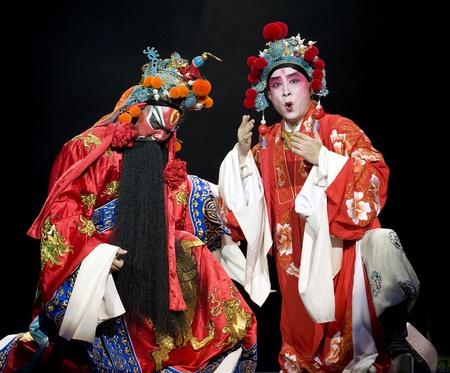 CHENGDU - OCT 26: Zhejiang Kunqu Opera theater perform Gongshunzidu at Jinsha theater.OCT 26, 2008 in Chengdu, China.The leading role is the famous opera actor Lin Weilin. Stock Photo - 8465528
