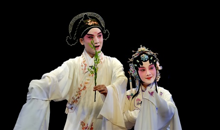 CHENGDU - MAY 23:Suzhou KunQu Opera Theater of china perform The Peony Pavilion at Golden theater May 23, 2007 in Chengdu, China.The leading role is the famous opera actress Shen Fengying. Stock Photo - 8465471