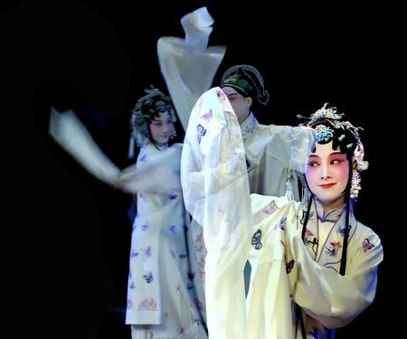 CHENGDU - MAY 23:Suzhou KunQu Opera Theater of china perform The Peony Pavilion at Golden theater May 23, 2007 in Chengdu, China.The leading role is the famous opera actress Shen Fengying. Stock Photo - 8465482
