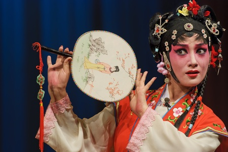 pretty chinese opera actress