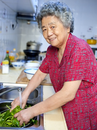 cooking grandmother photo