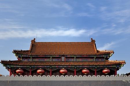 aureate: Palace roof with coloured glaze under blue sky