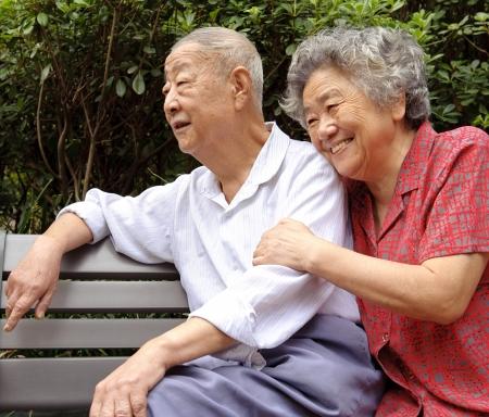 an intimate senior couple