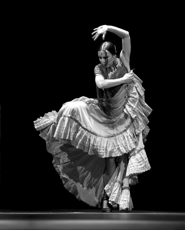 CHENGDU - DEC 28: The Ballet Troupe of Spanish Rafael Aguilar(Ballet Teatro Espanol de Rafael Aguilar) perform the best Flamenco Dance Drama