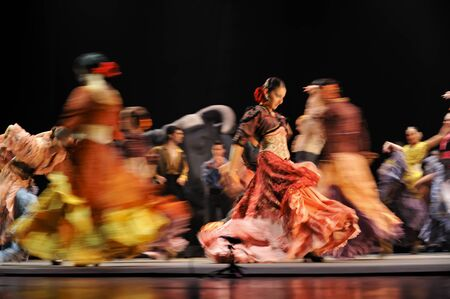 gitana: CHENGDU - 28 de dic: El mejor Flamenco Dance Drama Carmen, interpretada por la compa��a de Ballet de espa�ol Rafael Aguilar(The Ballet Teatro Espanol de Rafael Aguilar) en teatro JINCHENG el 28 de diciembre de 2008 en Chengdu, China.