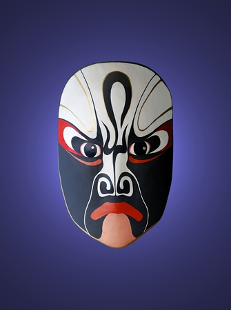 mask of opera with blue isolated background Stock Photo - 8496336