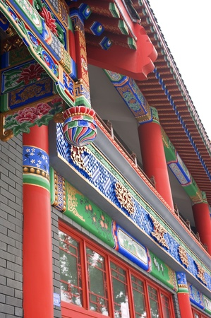 China element - wonderful building : colorful eave photo