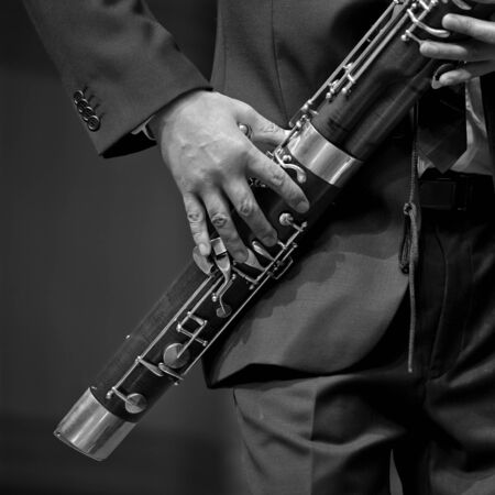chamber: bassoonist on chamber music Stock Photo