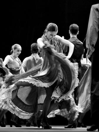 CHENGDU - DEC 28: The Best Flamenco Dance Drama Carmen performed by The Ballet Troupe of Spanish Rafael Aguilar(The Ballet Teatro Espanol de Rafael Aguilar) at JINCHENG theater DECEMBER 28, 2008 in Chengdu, China.