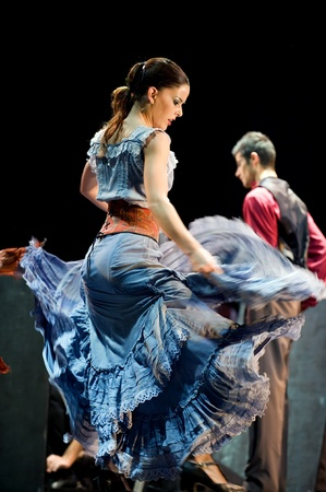 rafael aguilar: CHENGDU - DEC 28: The Best Flamenco Dance Drama Carmen performed by The Ballet Troupe of Spanish Rafael Aguilar(The Ballet Teatro Espanol de Rafael Aguilar) at JINCHENG theater DEC 28, 2008 in Chengdu, China. Editorial