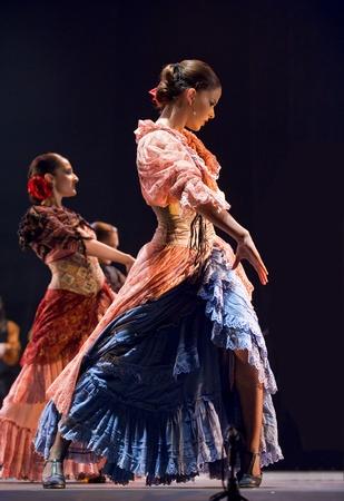 CHENGDU - DEC 28: The Best Flamenco Dance Drama Carmen performed by The Ballet Troupe of Spanish Rafael Aguilar(The Ballet Teatro Espanol de Rafael Aguilar) at JINCHENG theater DEC 28, 2008 in Chengdu, China.