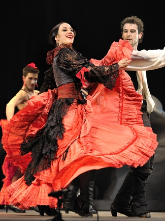 carmen: CHENGDU - DEC 28: The Best Flamenco Dance Drama Carmen performed by The Ballet Troupe of Spanish Rafael Aguilar(The Ballet Teatro Espanol de Rafael Aguilar) at JINCHENG theater DEC 28, 2008 in Chengdu, China. Editorial