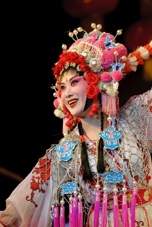 dance drama: CHENGDU - May 8: Chinese opera Bie Dong Guan Jing performed by Sichuan Opera Theater at experimental theater May 8, 2008 in Chengdu, China. The leading role is the famous opera actress Cui Guangli. Editorial
