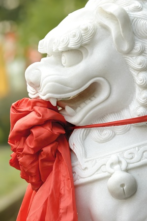 chinese traditional totem : lion sculpture photo