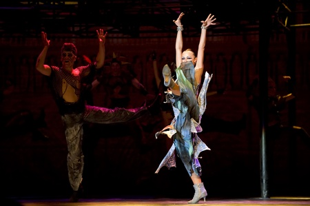 The World Famous Dance Drama Notre Dame de Paris performed by Dance of the World Troupe at SICHUAN coliseum FEB 2, 2010 in Chengdu, China.