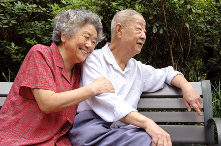 live happy: an intimate senior couple