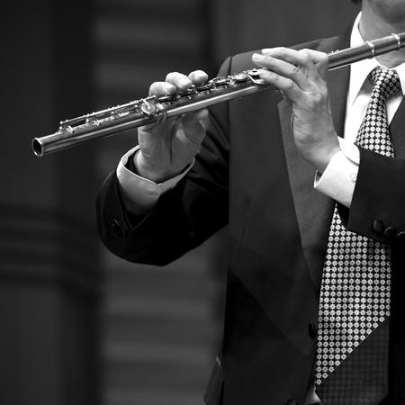 flutist on concert photo