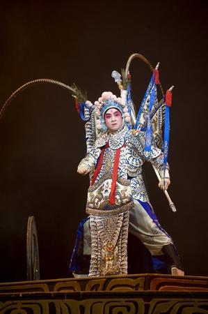 finery: chinese Kunqu Opera Gongshunzidu theater performed by Zhejiang Kunqu Opera theater at Jinsha theater.OCT 26, 2008 in Chengdu, China. The leading role is the famous opera actor Lin Weilin.