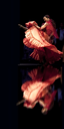 The Best Flamenco Dance Drama Carmen performed by The Ballet Troupe of Spanish Rafael Aguilar(The Ballet Teatro Espanol de Rafael Aguilar) at JINCHENG theater DEC 28, 2008 in Chengdu, China.