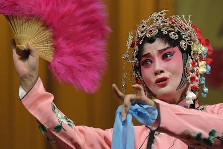 CHENGDU - Jul 26: Chinese traditional opera performed by Chengdu Opera Theater at Jinjiang theater Jul 26, 2007 in Chengdu, China. The leading role is the famous opera actress Wang Yumei.