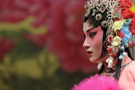 chinese opera: CHENGDU - Jul 26: Chinese traditional opera performed by Chengdu Opera Theater at Jinjiang theater Jul 26, 2007 in Chengdu, China. The leading role is the famous opera actress Wang Yumei.