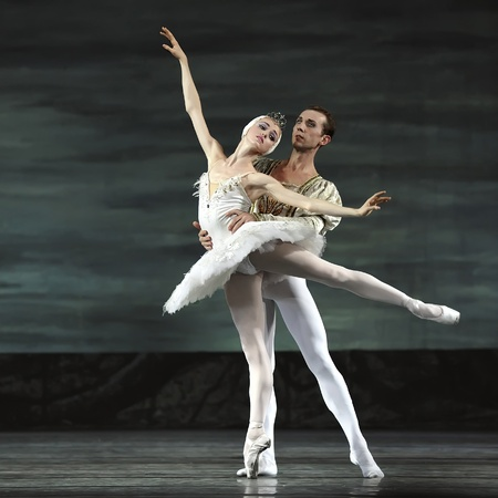 Swan Lake ballet performed by Russian royal ballet at Jinsha theater December 24, 2008 in Chengdu, China. Stock Photo - 8632076