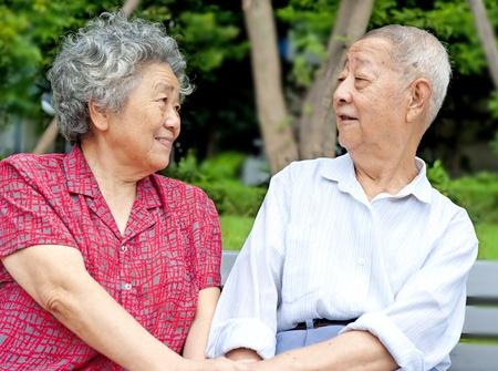 an intimate senior couple photo