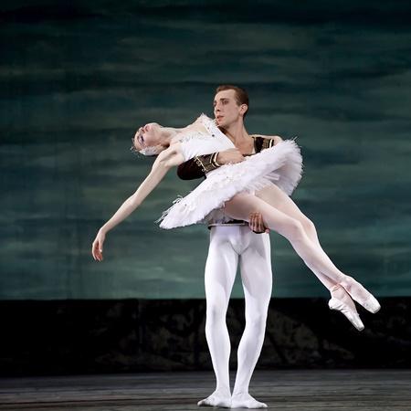 Swan Lake ballet performed by Russian royal ballet at Jinsha theater December 24, 2008 in Chengdu, China.
