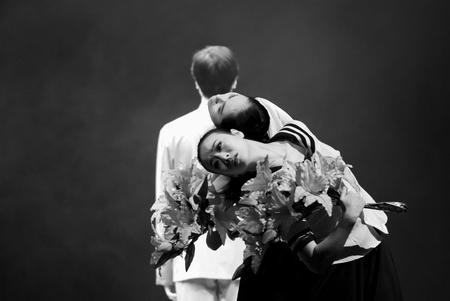 miss: Trio dance Miss you! Dear teacher performed by CHongQing Song And Dance Troupe at JINCHENG theater.DEC 11,2007 in Chengdu, China. Choreographer & actor: Liao zhongtao, Lin Yujie, Wang Yuanyuan