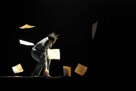 a long poem: CHENGDU - DEC 11: Beijing Dance Academy perform chinese Solo dance Poem of long river at JINCHENG theater.Dec 11,2007 in Chengdu, China. Choreographer: Xiao Xiangrong, Chang Xiaoni, Cast: Sun Rui Editorial