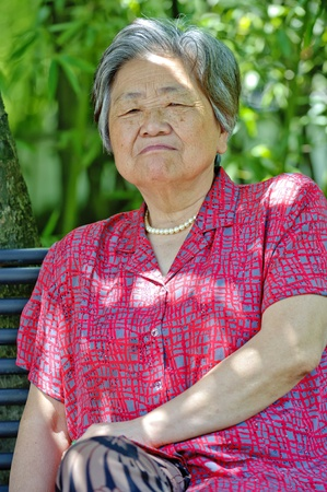 portrait of a grandmother photo