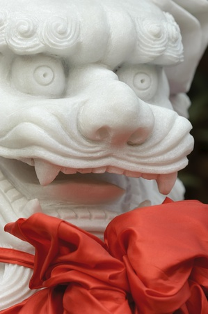 chinese traditional totem:lion sculpture photo