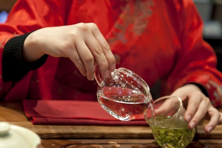 making dresses: chinese tea ceremony