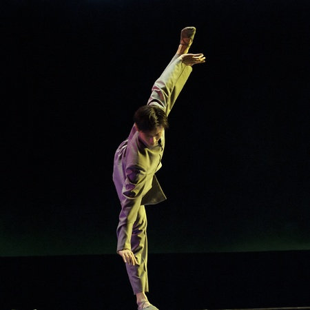 CHENGDU - DEC 9: chinese dancer performs modern dance Poem of long river at JINCHENG theater in the 7th national dance competition of china.Dec 9,2007 in Chengdu, China.Choreographer: Xiao Xiangrong, Chang Xiaoni, Cast: Sun Rui Stock Photo - 9272393