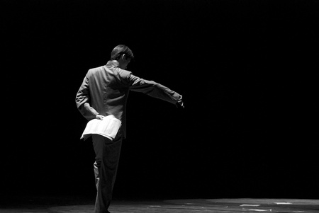 a long poem: CHENGDU - DEC 9: chinese dancer performs modern dance Poem of long river at JINCHENG theater in the 7th national dance competition of china.Dec 9,2007 in Chengdu, China. Choreographer: Xiao Xiangrong, Chang Xiaoni, Cast: Sun Rui Editorial