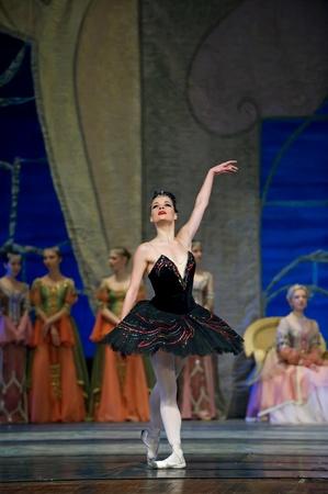 palacio ruso: CHENGDU - 24 de diciembre: Royal ballet ruso realizar ballet del lago de los cisnes en el teatro de Jinsha 24 de diciembre de 2008 en Chengdu, China. Editorial