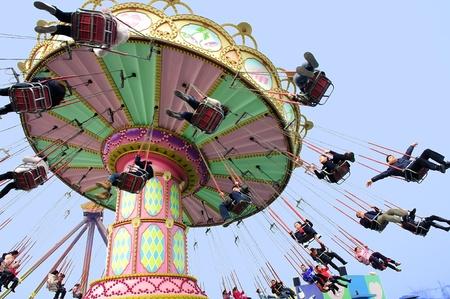 CHENGDU - FEB 3: Happy people play in the amusement park on Feb 3, 2011 in Chengdu, China. Stock Photo - 9309204
