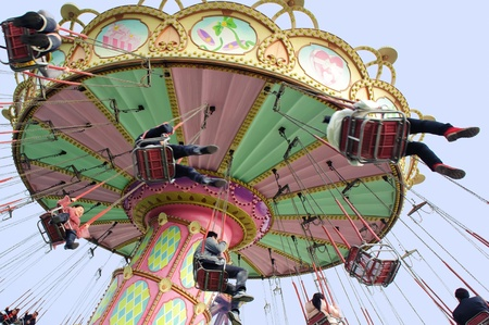 CHENGDU - FEB 3: Happy people play in the amusement park on Feb 3, 2011 in Chengdu, China. Stock Photo - 9350527